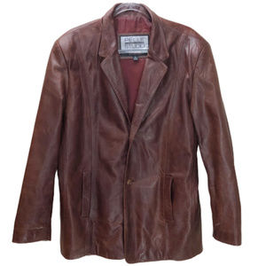 Pelle Studio Wilsons Brown Leather Coat Size L
